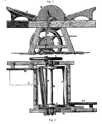 Drawing of the Greaves dressing machine