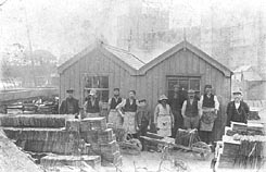 Slate loaders at Caernarfon
