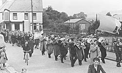 Llanberis' first carnival, 1950s.