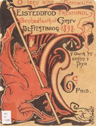 Programme Cover from the 1898 Blaenau Ffestiniog Eisteddfod. National Library of Wales.