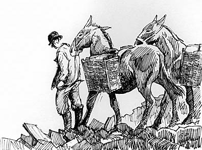 A traditional means of transporting slates, Gareth Parry, 2002