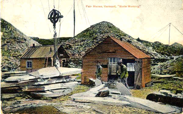 "Fairhaven, Vermont, ""Slate Working"""